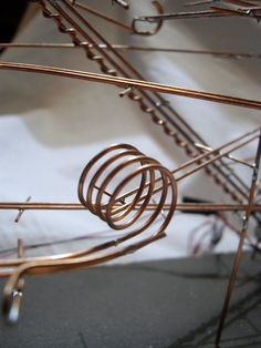 How to Make a Ball Bearing Rollercoaster: 7 Steps (with Pictures) Wie man eine Achterbahn mit Kugellagern baut – Gunook Rolling Ball Sculpture, Wood Sculpture, Metal Sculptures, Abstract Sculpture, Bronze Sculpture, Marble Maze, Marble Runs, Marble Tracks, Cool Things To Make