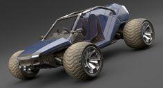 3d sci fi buggy