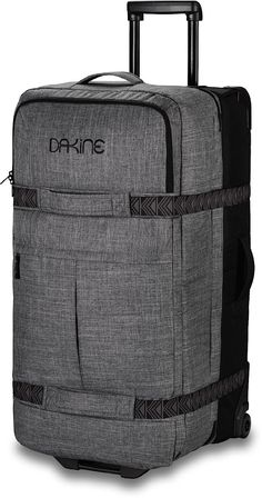 Textured grey Dakine rolling duffel bag
