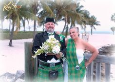 This colorful Irish couple had a romantic wedding on Sombrero beach in Marathon Fl.