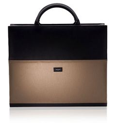 Love the neutral color + the elegant briefcase look.