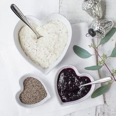 Porto Stoneware Heart Ramekin | The White Company