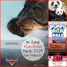 I am headed to San Francisco at the end of the month! Be sure to join me as I share about my #Cars3Event