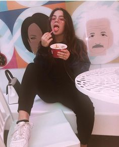 What's your favorite ice cream flavor ? Tessa Brooks, Chessa, Tumblr Girls, Strike A Pose, Celebrity Pictures, Pretty People, Role Models, Fashion Outfits, Fashion Trends