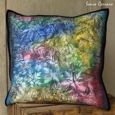 Kouzelný les, washed-out look / Zboží prodejce Blue Carraro Magick, Origami, Throw Pillows, Toss Pillows, Cushions, Witchcraft, Origami Paper, Decorative Pillows