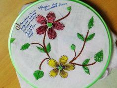 Hand Embroidery Designs # 138 - Checkered flower stitch design