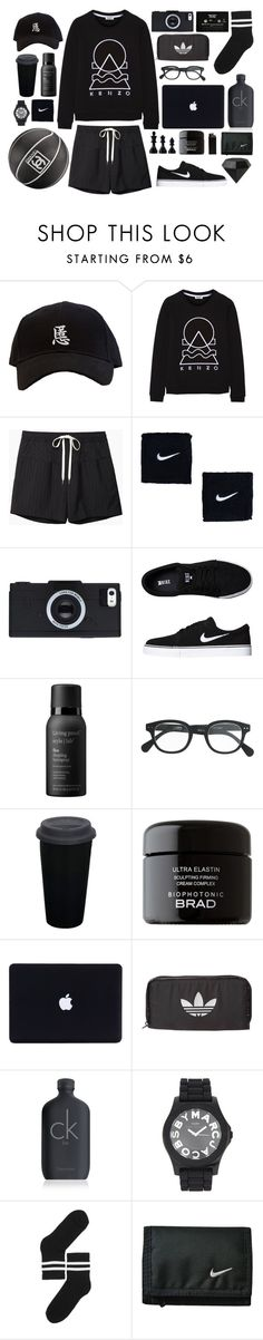 """Sport is the new black"" by fashionispurebliss ❤ liked on Polyvore featuring Kenzo, Alexander Wang, Chanel, NIKE, Living Proof, J.Crew, CASSETTE, BRAD Biophotonic Skin Care, adidas Originals and Calvin Klein"