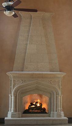 Cast Stone Fireplace Overmantels - DeVinci Cast Stone