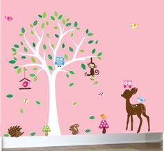 Childrens white tree wall decal nature decals by couturedecals, $129.00