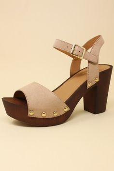 6accff361c5 Sidecca. Wooden ClogsCookie DoughHeeled SandalsShoes SandalsSandals With  Heels. Single Strap ...