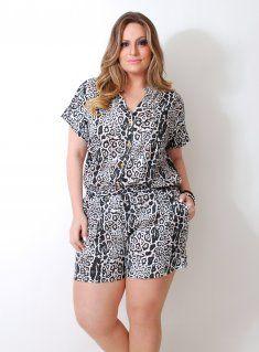 moda plus size macaquinho - Pesquisa Google