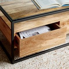 Box Frame Storage Coffee Table #westelm