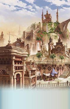 New concept art fantasy city atlantis ideas Fantasy Artwork, Fantasy Art, Animation Art, Fantasy Castle, Anime Scenery, Fantasy Landscape, Fantasy City, Art, Scenery