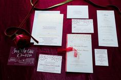 To see more gorgeous details about this wedding: http://www.modwedding.com/2014/11/14/holiday-inspired-washington-dc-wedding/ #wedding #weddings #wedding_invitation