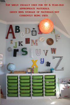 How to Organize a Montessori Homeschool Classroom Classroom Design, School Classroom, Classroom Decor, Montessori Homeschool, Montessori Classroom, Reggio Emilia Classroom, Classroom Environment, Learning Spaces, Kids Room Design