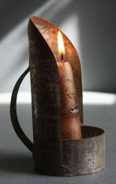 Tin Candle Holder
