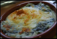 Espinacas a la crema - Recetas Thermomix Bechamel, Oatmeal, Pudding, Cheese, Breakfast, Desserts, Food, Husband, Easy Recipes