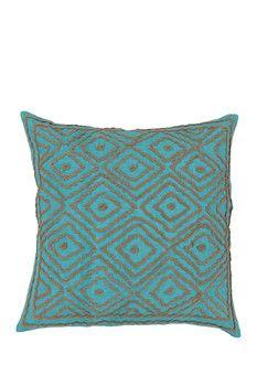 Linen Throw Pillow - Blue Radiance