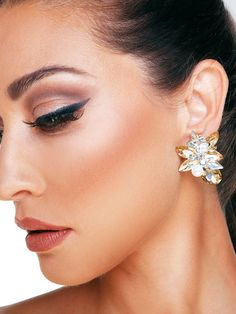 Statement Earrings, Pearl Earrings, Wedding Earrings, Home Wedding, Pearls, Crystals, Metal, Glass, Jewelry