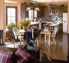 Comfortable and inviting country kitchen decor in Plan 038D-0317 | House Plans and More