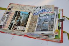 I love looking at Mary Ann Moss journals. Its fun making these too -sewing on paper is cool!