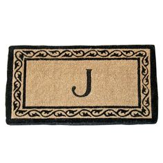 Geo Crafts Creel Ivy Border Monogram Mat