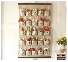 Burlap Advent Calendar {{tutorial}} knock off style - Love Stitched