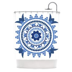 Bohemian Blues by Carolyn Greifeld Shower Curtain