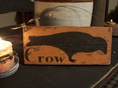 Primitive Grungy Crow Sign Handmade Wood by DaisyPatchPrimitives, $10.00