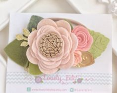 Pink Flower Crown. Mini Felt Flower Crown от LovelyFeltShop