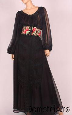 Black silck Demetria dress