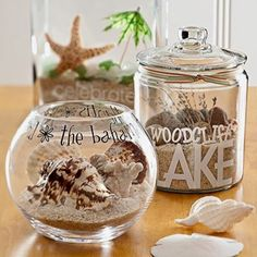Craft idea for vacation seashell treasures