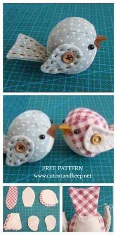 Animal Sewing Patterns, Bird Patterns, Sewing Patterns Free, Free Sewing, Stitching Patterns, Crochet Patterns, Sewing Art, Sewing Toys, Sewing Crafts