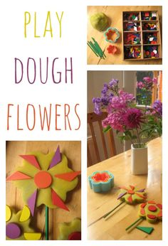 Combining sensory play, nature study and creative learning – have you ever made play dough flowers?