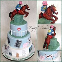 A very special Birthday Cake for a retired horse trainer by Zoepop's Cakes Special Birthday Cakes, 90th Birthday, Beautiful Cakes, Amazing Cakes, Graham Cake, Cowgirl Cakes, French Cake, Horse Cake, Bakery Cakes