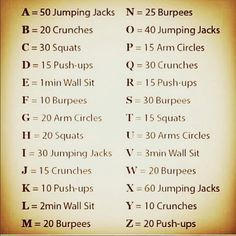 Workout to your name or username