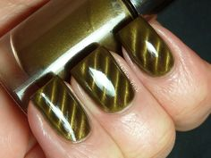 warm olive green with a lighter magnetic effect