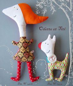 doll and dog Sock Dolls, Plush Dolls, Doll Toys, Rag Dolls, Fabric Toys, Paper Toys, Cute Dolls, Ugly Dolls, Softies