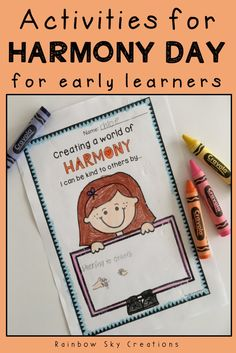 A set of activities and craft for early learners about Harmony Day in Australia. These printables focus on the idea that 'everyone belongs' in our multicultural society. Tasks and worksheets focus on the values of Harmony Day and can be used to create classroom displays about cultural diversity. Suitable for Kindergarten, Prep, foundation and education in early years setting.