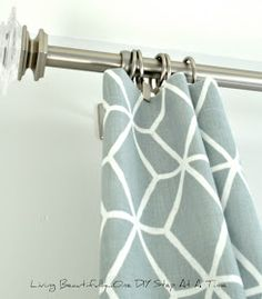 Living Beautifully...One (DIY) Step At A Time: Master Ensuite Curtains