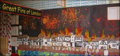 Great Fire of London Classroom Displays - Primary Facts Classroom Displays Secondary English, Primary Classroom Displays, Classroom Display Boards, School Displays, Space Classroom, Reggio Classroom, Music Classroom, School Classroom, Fire London