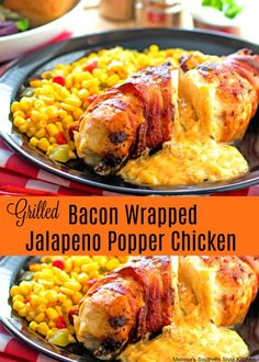 Grilled Bacon Wrapped Jalapeno Popper Chicken #Summermoments #bordencheese #ad