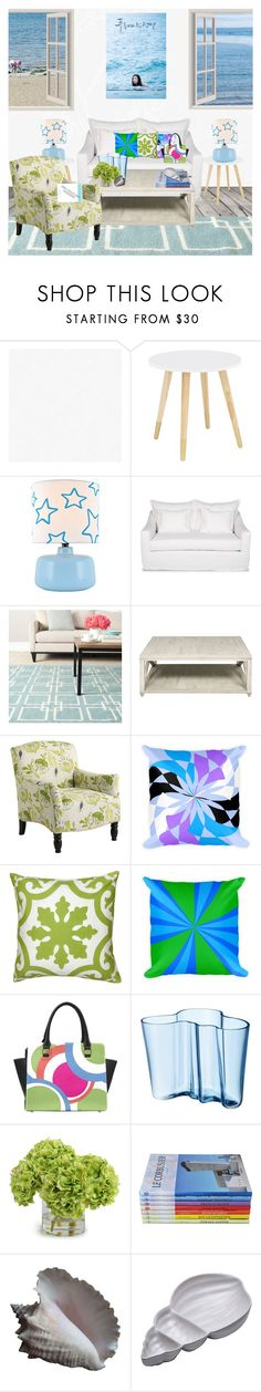 """""""The Beach House"""" by atelier-briella ❤ liked on Polyvore featuring interior, interiors, interior design, home, home decor, interior decorating, Lite Source, Moss Studio, Safavieh and Pier 1 Imports"""