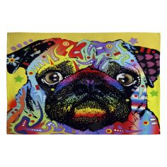 Dean Russo Pug Woven Rug | DENY Designs Home Accessories