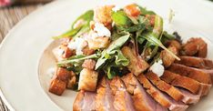 Seared Duck Breast with Caramelized Sweet-Potato Panzanella Recipe