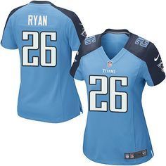 Women's Nike Tennessee Titans #26 Logan Ryan Game Light Blue Team Color NFL Jersey