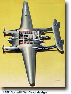 1952 Burnelli Car Ferry design