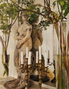 Designer Myra Hoefer via Boxwood Terrace via VERANDA