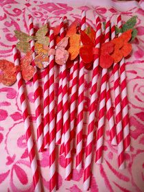 Giggleberry Creations!: Butterfly Party - Butterfly Straws!