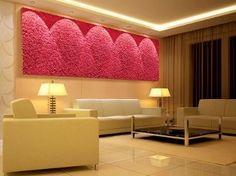 Niezwykła dekoracja - mech we wnętrzu. Moss Wall Art, Plant Wall, Curtains, Living Room, Interior, Furniture, Design, Vertical Gardens, Home Decor